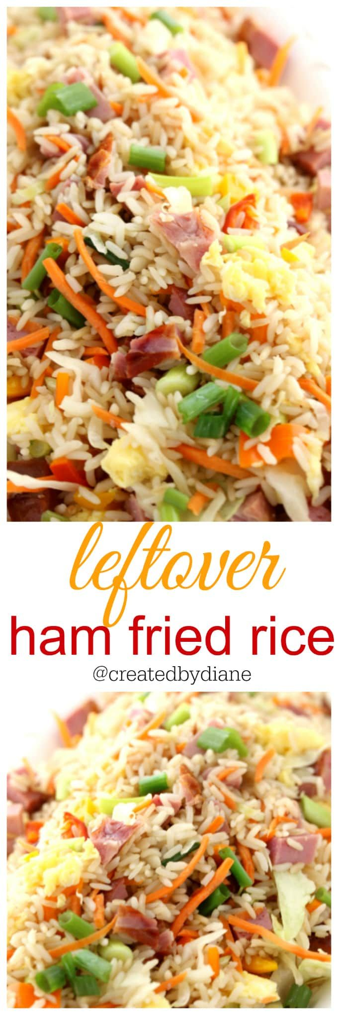 leftover ham fried rice recipes great for holiday ham, breakfast recipe @createdbydiane
