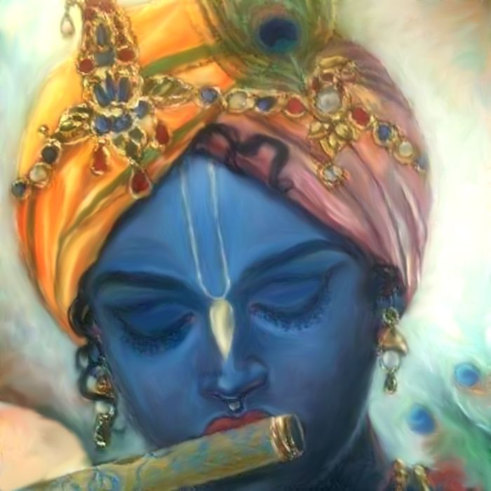 """krishnaart: Shri Krishna said: Know that all opulent, beautiful and glorious creations spring from but a spark of My splendor.""""~Bhagavad Gi..."""