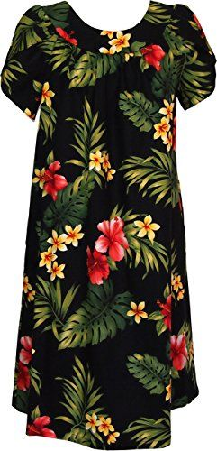 RJC Womens Tropical Summer Hibiscus Muumuu Dress