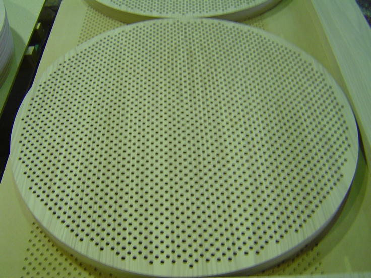 Special Discs of perforated panels made from Perforated plywood, what can we do for you ?