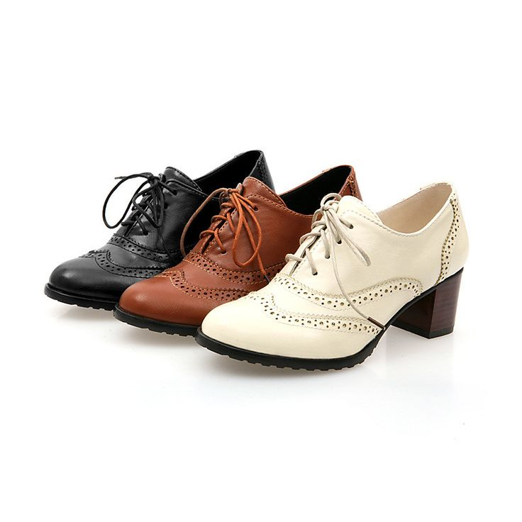 Want get an unique shoes? This British style shoes maybe can let your dream come true. Highlight with carved and lace up design, this oxford shoes is so elegant and charming. Gender: Women's Upper Mat