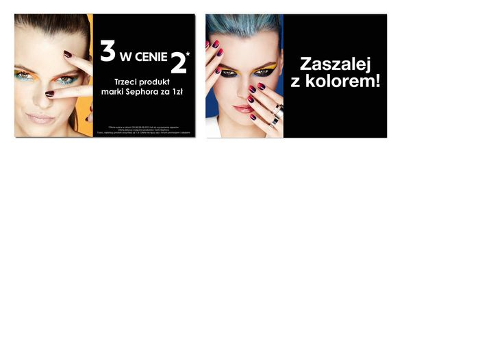 Promocja marki Sephora - 3 cienie w cenie 2 :)