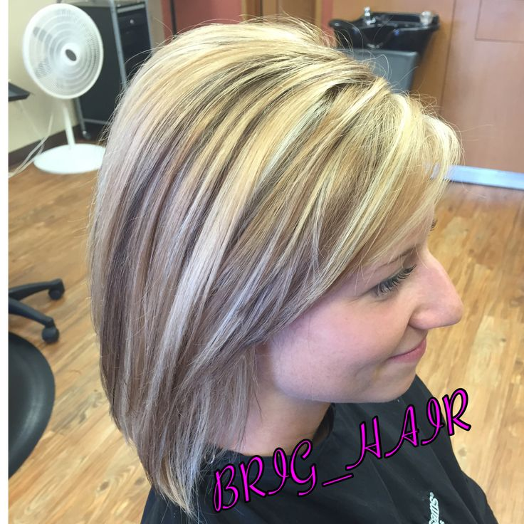 Golden Caramel Base Color With Cool Blonde Highlights And