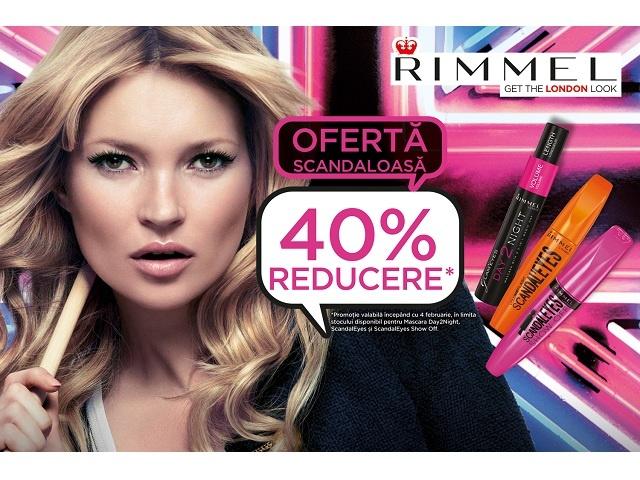 Promo Rimmel - 40% Reducere  Parfum & Culoare - Parfumuri, Cosmetice si Machaij.   http://www.parfumsiculoare.ro/