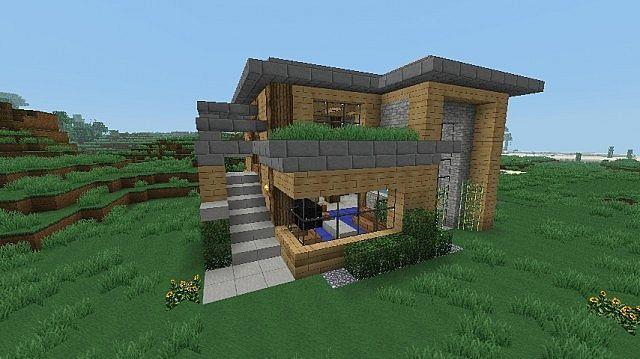 Modern Chunk House httpwwwplanetminecraftcomproject16x16