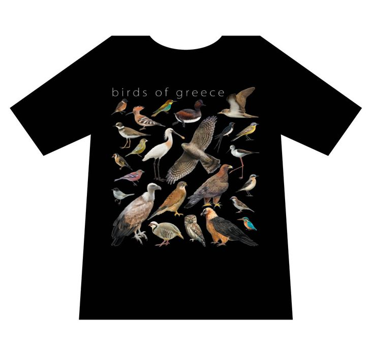 Nature T-shirts, Birds of Greece, T-shirt, mediterraneo editions, www.mediterraneo.gr