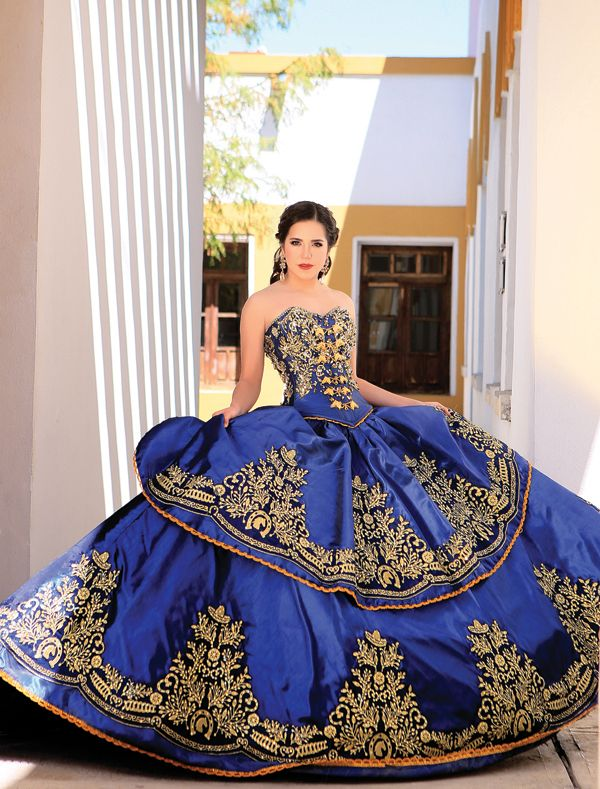 >> Click to Buy << 2017 Royal Blue Ball Gown Embroidery Crystals Quinceanera Dresses Gold Cheap Sweet 16 Dresses for 15 Years Vestidos De 15 Anos #Affiliate