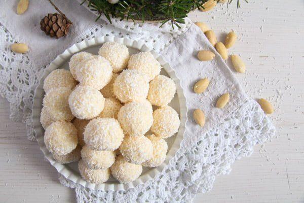 Three Ingredient Homemade Raffaello Coconut Almond Balls Recipe Coconut Almond Indian Dessert Recipes Condensed Milk Desserts
