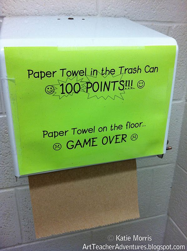 Adventures of an Art Teacher: Paper Towel Problem Solved: Good Ideas, Problems Solving, Hall Bathroom, Art Teacher, Towels Problems, Art Classroom Management Ideas, Classroom Ideas, Art Rooms, Paper Towels