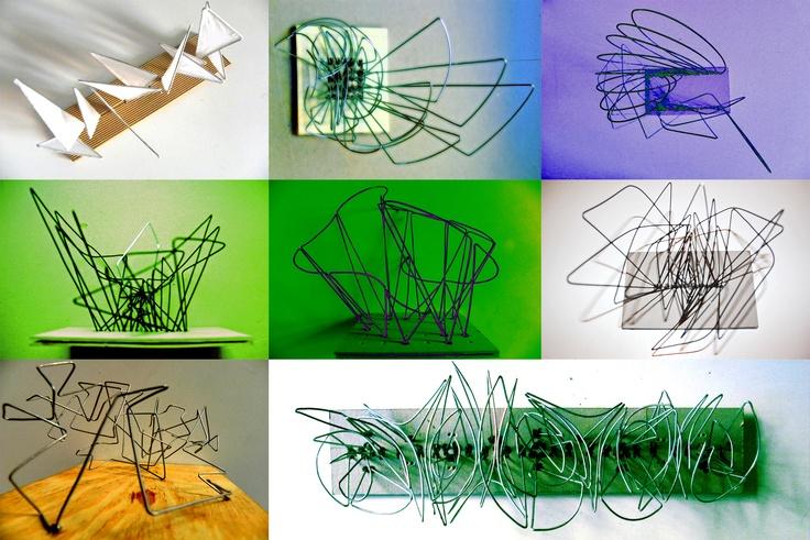 Triangulaciones Escultura en Alambre Damián Sondereguer