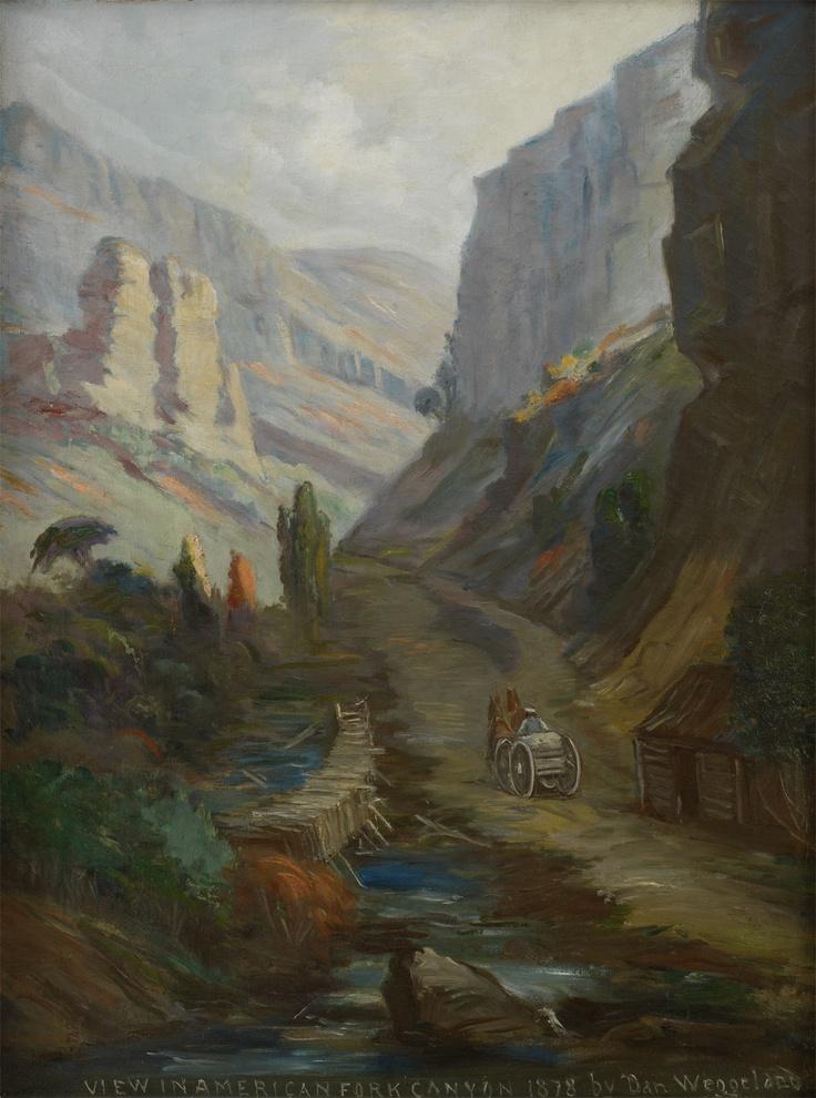 "Weggeland, Danquart Anthon  ""View in American Fork Canyon, 1878 (1892)"""