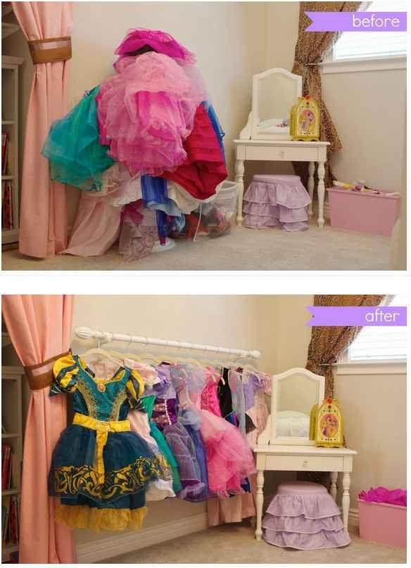 El mismo truco también sirve para los trajes de princesa.