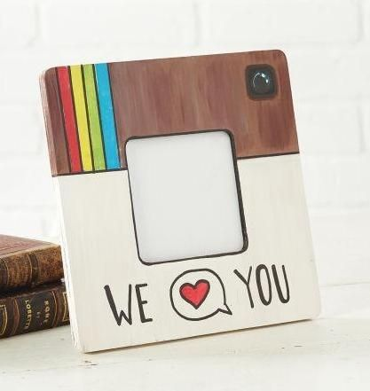 """Father's Day """"Instagram"""" Wood Frame, large"""