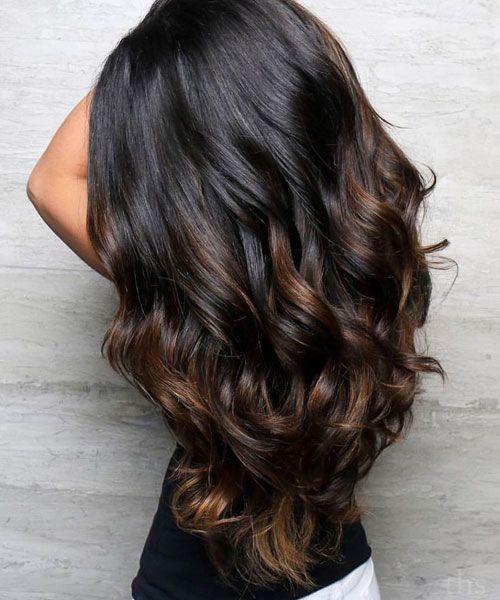 Balayage auf dunklem Haar – Bestes Balayage für d…