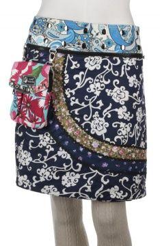 Kiki long wrapskirt with pouchbag