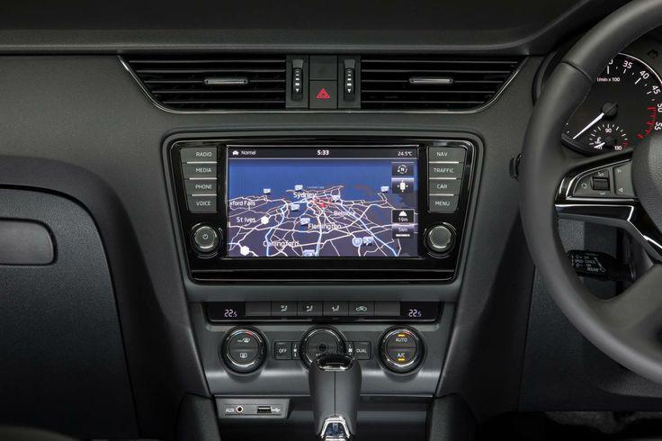 2014 Skoda Octavia 8 inch sat nav screen. Very clear and responsive.