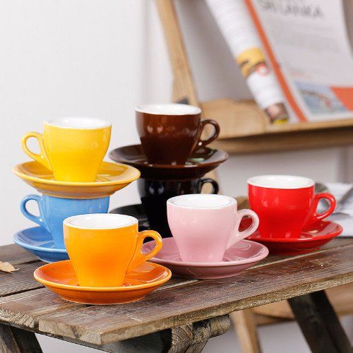 The Colorful Tulip Cup/Saucer #Home-Barista