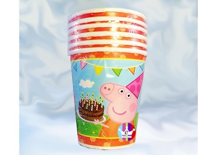 eFantasyMx: Peppa Pig, vasos desechables 9 onz, 6 pzs - Kichink