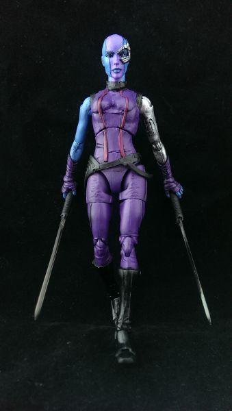 Nebula (Movie) (Marvel Legends) Custom Action Figure by Wings Recipe: Movie Gamora body, Satana head, Movie Invisible Woman legs