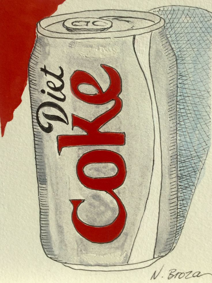 Diet Coke can drawing with watercolor | My Own Art ...