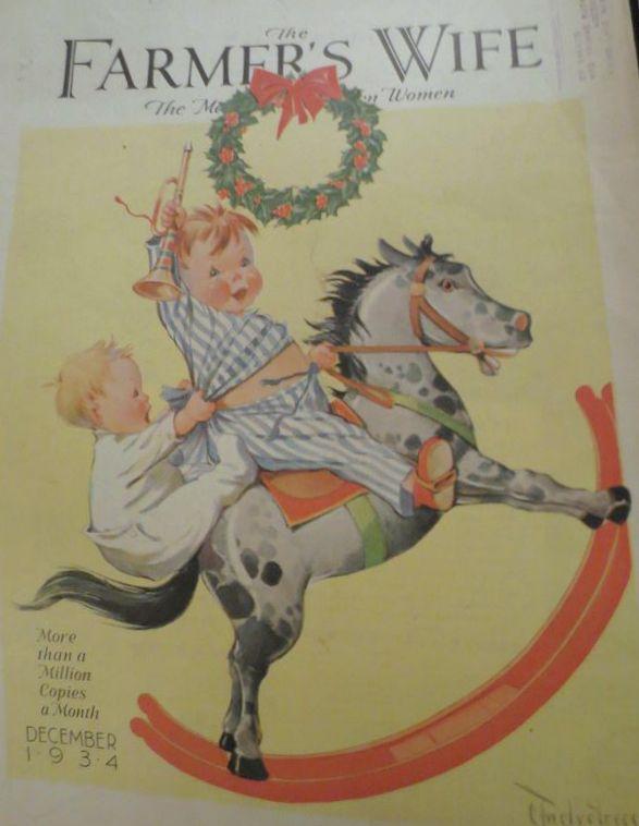 The Farmer's Wife magazine December 1934, Christmas cover