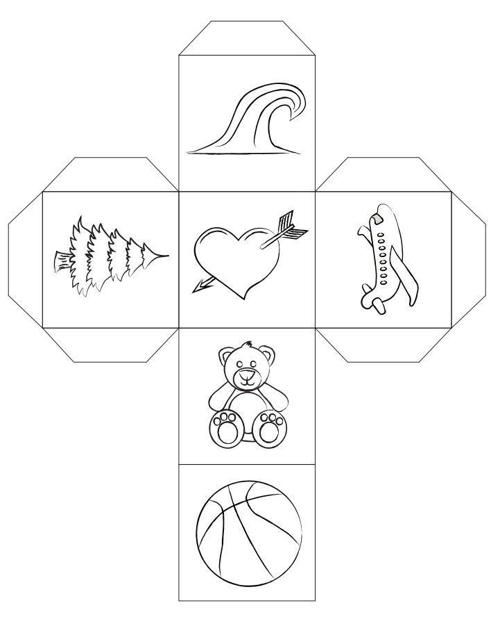 Cuentadado 02 Para Colorear Dados Para Contar Cuentos En Color Y Para Colorear Cubos Para Conta Escritura Creativa Para Ninos Juegos Para Ninos Manualidades