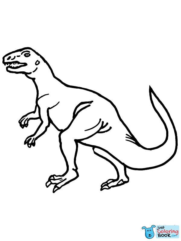 Teratosaurus Triassic Dinosaur Coloring Page Free Printable Inside Printable Teratosaurus Dino Coloring Pages