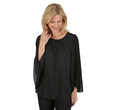 Vince Camuto Chiffon Pleated Sleeve Blouse