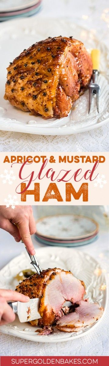 Apricot and mustard glazed ham is a pretty sight on the festive table and perfect for feeding a hungry crowd.
