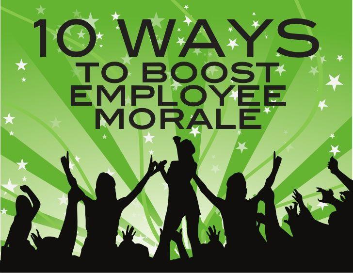 10 Ways To Boost Employee Morale #motivation employee motivation