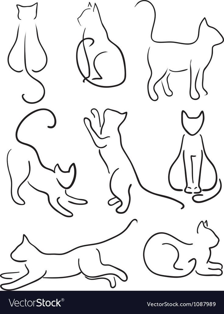 Silhouette of Cats vector image on – Michelle Dawson