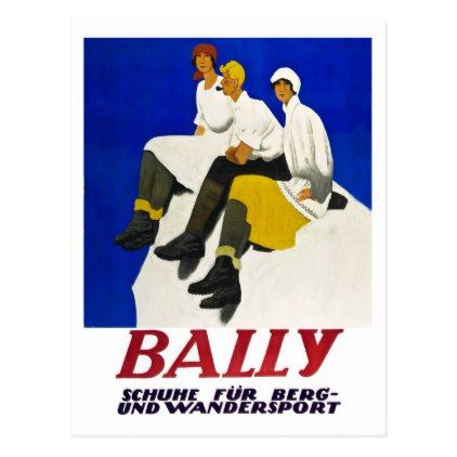 #Bally Switzerland vintage travel postcard - #vintage #travel #cards #custom #personalize