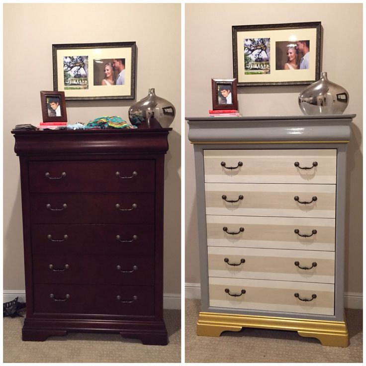 Bedroom Furniture Redo Chest Of Drawers Before After Annie Sloan Chalk Paint Paris Grey