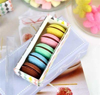 Cool Erasers - 5-Macaron Eraser Box Set