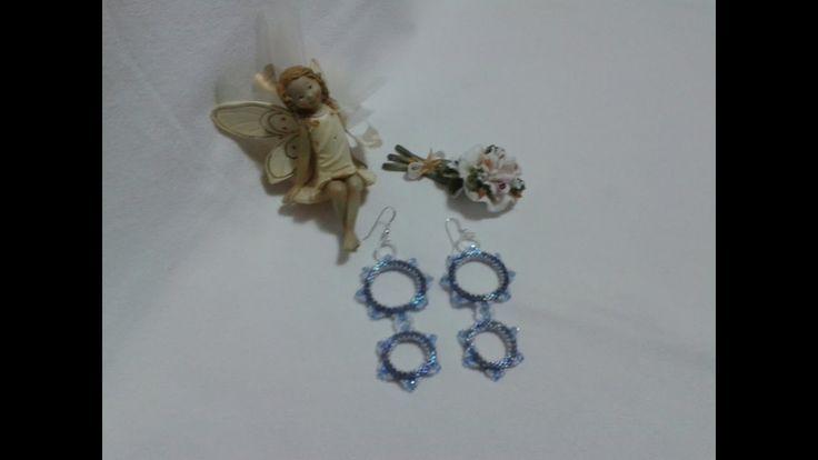 Tutorial - Orecchini Blu e Argento