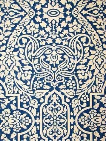 Imogen Pacific Outdoor Fabric   $10.95 Per Yard   Cream U0026 Blue Weather  Resistant Poly Part 76