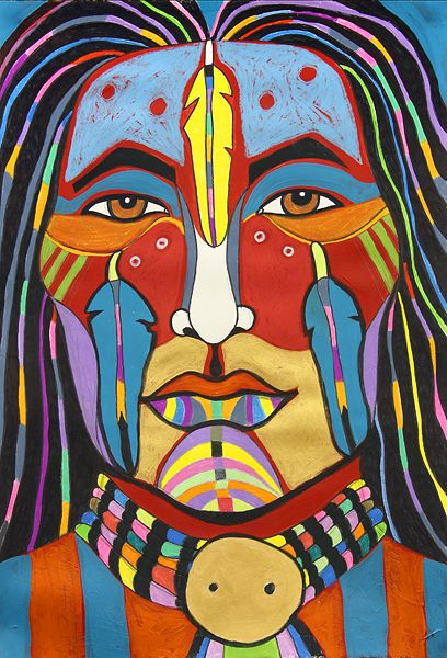 Rainbow Man, Warrior | George Littlechild – Canadian First Nations Artist