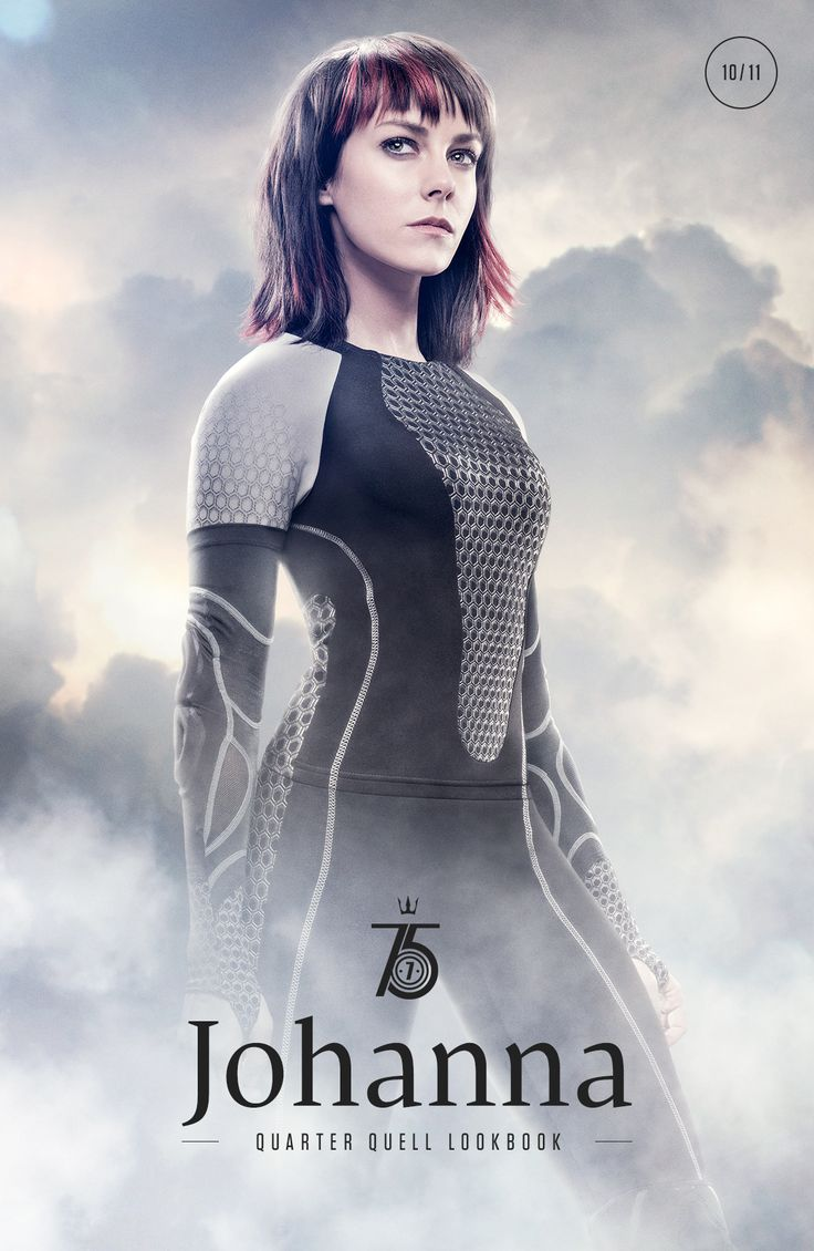 Game Faces: District 7's Johanna Mason.  This movie is sooo much better than the book. /rare  Also, Jena Malone, who needs to be in more great films ASAP.