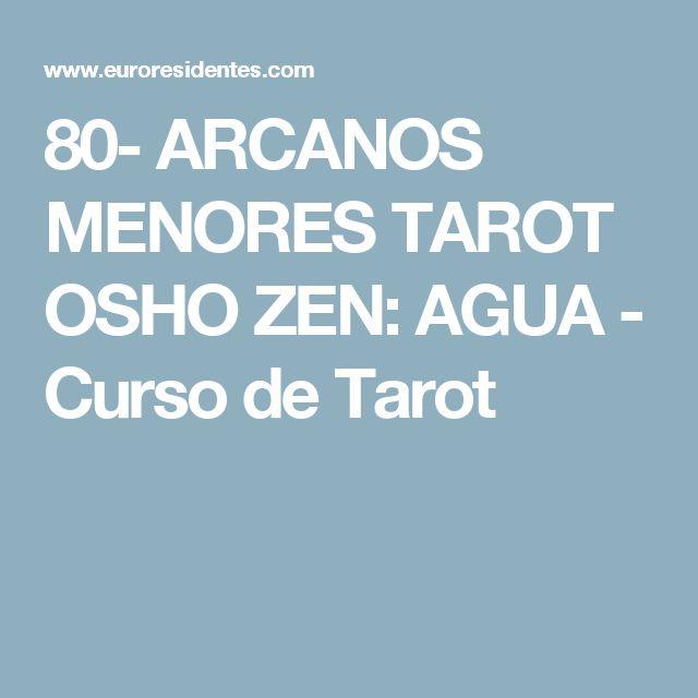 80- ARCANOS MENORES TAROT OSHO ZEN: AGUA - Curso de Tarot
