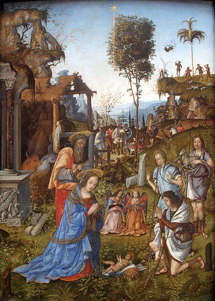 Amico Aspertini. Adoration of the Shepherds. ca.1496