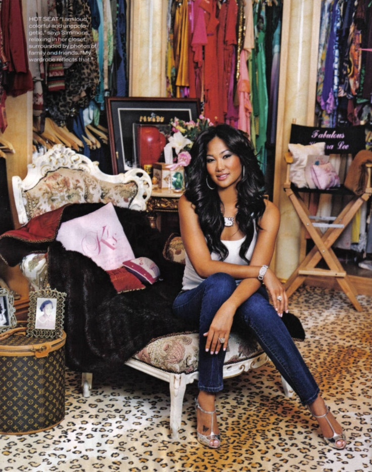My style and beauty icon Kimora Lee Simmons in her closet a.k.a. heaven!!