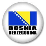 Bosnien und Herzegowina Flagge Button