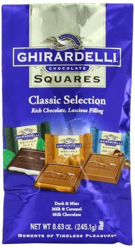 Ghirardelli Chocolate Squares Classic Selection 863Ounce Bags Pack of 3 * ** AMAZON BEST BUY **