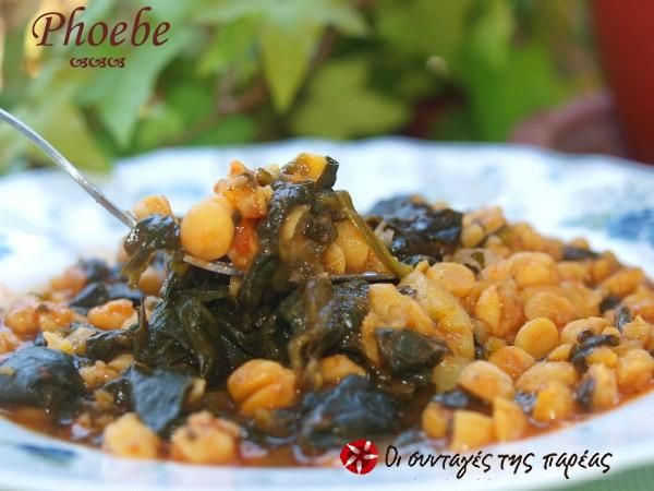 Chickpeas with spinach #cooklikegreeks