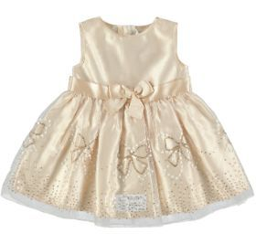 embroidered party dress  champagne  size: 0-12 months  *Selected stores only.