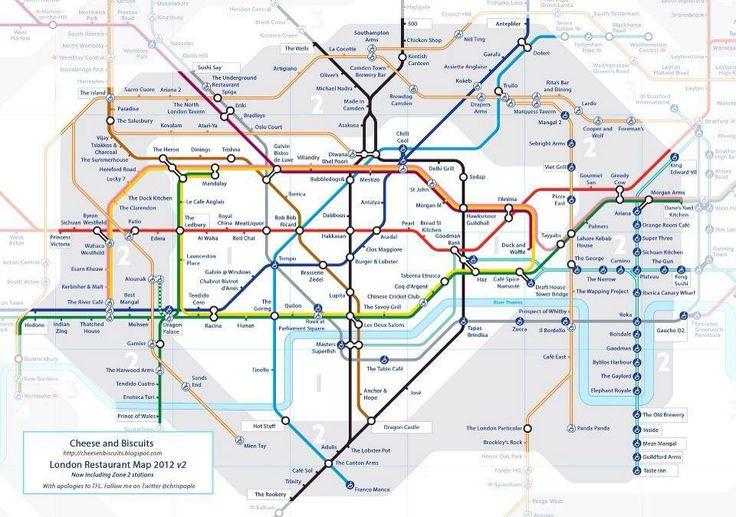london restaurant map