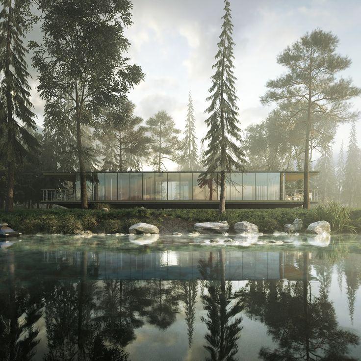 70 best exterior rendering archviz images on pinterest for Garden design in 3ds max