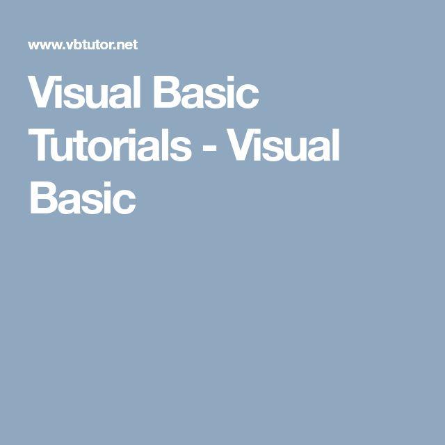 best 25 visual basic tutorials ideas on pinterest basic visual basic programmer sample resume - Vb Programmer Sample Resume