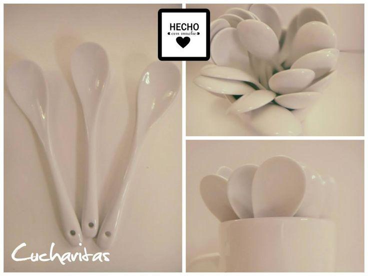 :: Cucharita de Porcelana :: Largo 13 cm