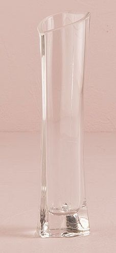 Small Glass Heart Shaped Vase - The Wedding Faire